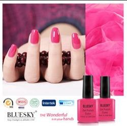 pink Gel Polish fashion trends uv gel polish bluesky brands nails