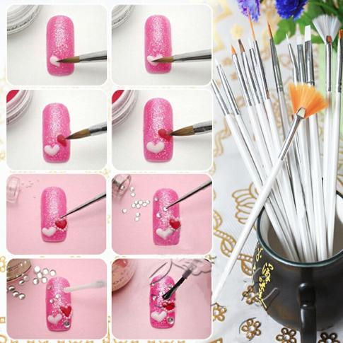 nail art brushes for gel shellac polish